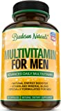 Multivitamin for Men with Vitamins A B1 B2 B3 B5 B6 B12 C D E + Calcium + Zinc + Magnesium + Biotin + Saw Palmetto & more. Improves Cardiovascular & Prostate Health. Antioxidant & Natural Energizer.
