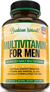 Multivitamin for Men with Minerals & Vitamins A B1 B2 B3 B5 B6 B12 C D E Calcium