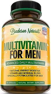 Multivitamin for Men with Minerals & Vitamins A B1 B2 B3 B5 B6 B12 C D E Calcium