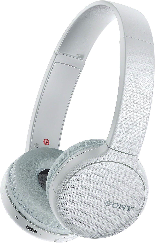 Sony WH-CH510 - ¿Muchas Llamadas y videollamadas Desde casa? Prueba Nuestros Auriculares de Diadema Bluetooth con hasta 35h de autonomía, Blanco
