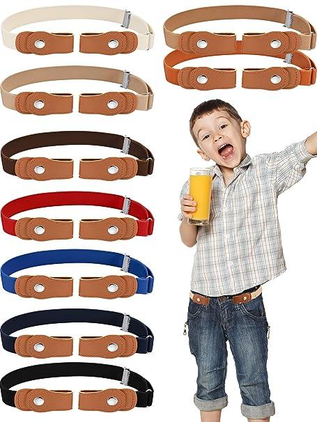 Kids Unisex Elastic Belt Adjustable Buckle Free Stretch For Jeans Accessories