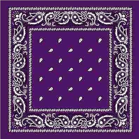 DEEP PURPLE Bandana With Square Paisley Pattern Amazoncouk Extraordinary Bandana Pattern