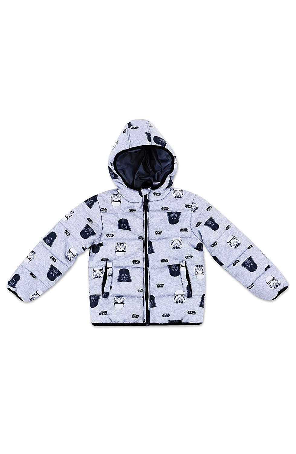 Dreamwave Boys' Winter Puffer Outerwear Jacket with Hood Pockets and Zipper UPF 50 Long Lasting High Performance
