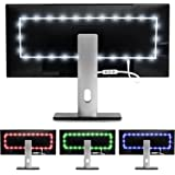 """Luminoodle Color Bias Lighting (2 meter, 6.56 ft) for 30"""" to 40"""" TV - 15 Color USB Powered RGB TV Lights - LED TV and Monitor Strip Light Kit to Reduce Eye Strain, Improve Contrast Ratios (Medium)"""