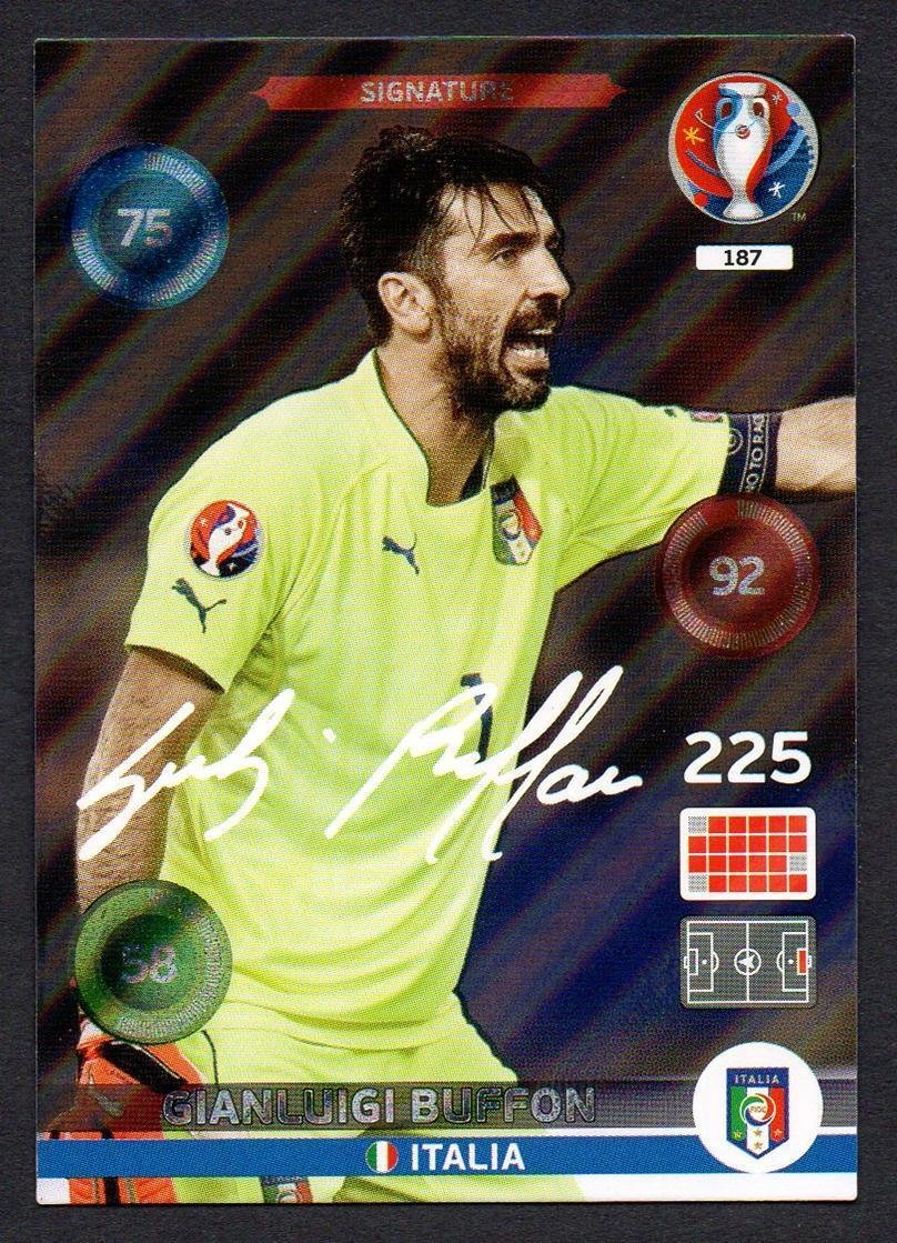 Panini Adrenalyn XL UEFA Euro 2016Buffon Signature Karte
