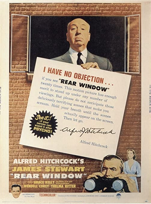 Rear Window Vintage Alfred Hitchcock Movie Poster
