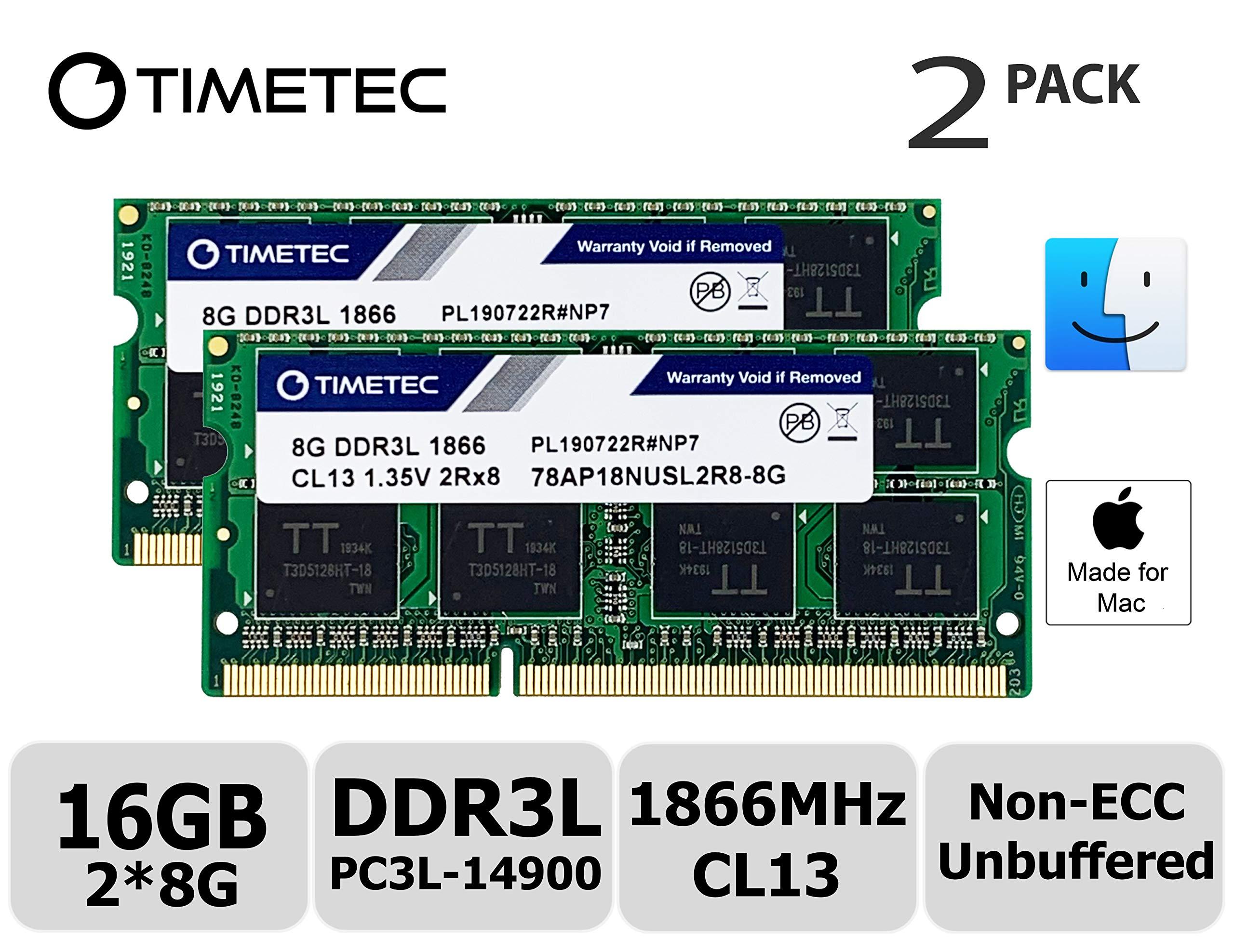 Memoria Ram 16gb Timetec Hynix Ic Kit(2x8gb) Compatible Para Apple Late 2015 iMac 27-inch W/retina 5k Display Ddr3l 1866