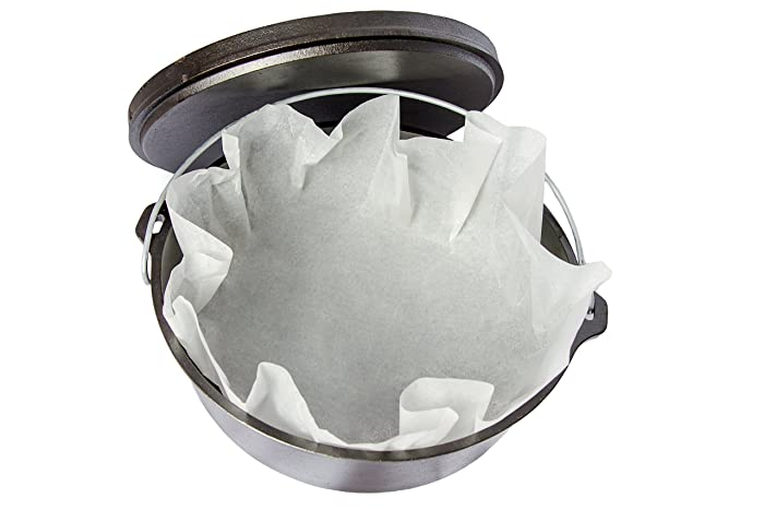 Dutch Oven Parchment Paper Liners, 20 Pack, 20 inches. By Campfire Pros