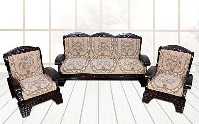 Gurnoor 6 Piece Sofa and Chair Cover Set (Beige)