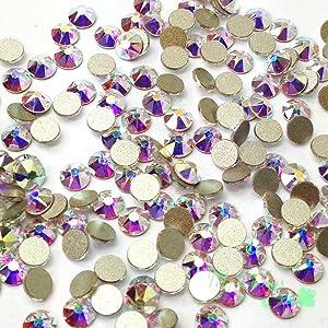 288 pcs (Factory Pack) Crystal AB (001 AB) Swarovski NEW 2088 Xirius 30ss Flat backs Rhinestones 6.4mm ss30