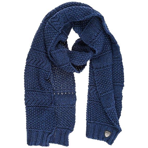 b1e6f4c7a067 Emporio Armani EA7 écharpe femme black iris  Amazon.fr  Vêtements et  accessoires