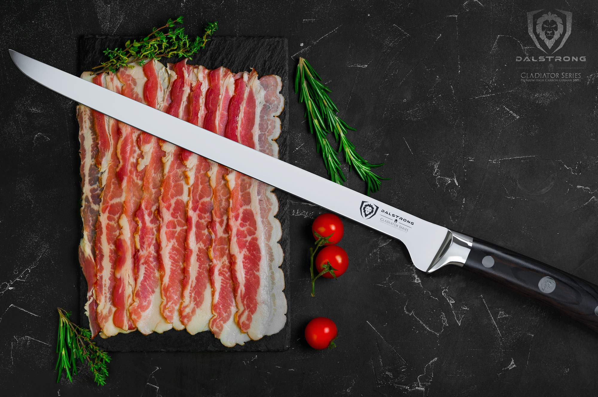 DALSTRONG - Spanish Style Meat & Ham Slicer - Gladiator Series - German HC Steel - 12'' w/Sheath by Dalstrong (Image #3)