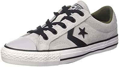 Unisex Adults Star Player Ox Light Carbon/White/Black Trainers, Grey, 7 UK Converse