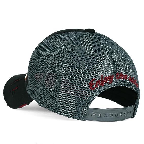 a378e52526a ililily NASA Meatball Logo Embroidery Baseball Cap Apollo 1 Patch Trucker  Hat Black