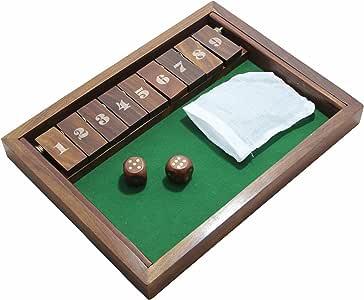 RoyaltyRoute de madera cerró el juego de la caja con dados hechos ...