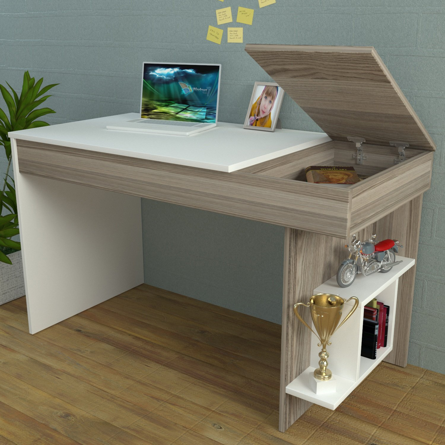 HIDDEN Bureau White Avola Computer Workstation Home Office