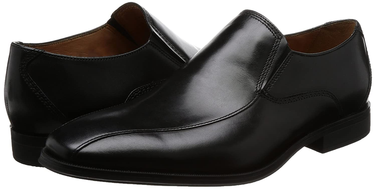 Clarks Gilman Slip Uomo Uomo Uomo Formal Slip on scarpe 7 G nero Leather 82ceda
