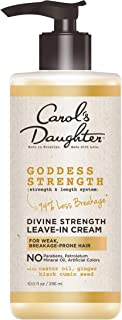 product image for Carol's Daughter Goddess Strength Divine Strength Leave In Conditioner with Castor Oil, Black Seed Oil and Ginger, for Weak, Breakage Prone Hair, Paraben Free, 10 fl oz