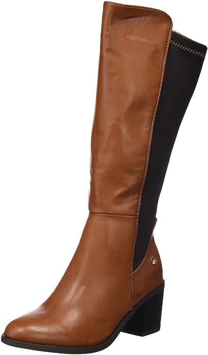74b693ae XTI Bota Sra. C. Combinado Camel, Zapatos de tacón con Punta Cerrada para  Mujer: Amazon.es: Zapatos y complementos