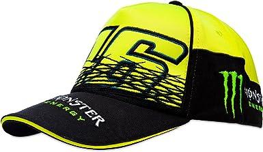 VR46 Valentino Rossi Gorra Monster, Amarillo/Negro, Fluorescente ...
