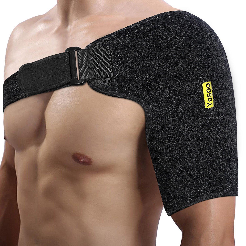 Yosoo Schulterbandage, Neopren Verstellbare Schulter Compression Brace Schulter Verpackungs-Gurt-Band, für linke oder rechte Schulter (Basic)