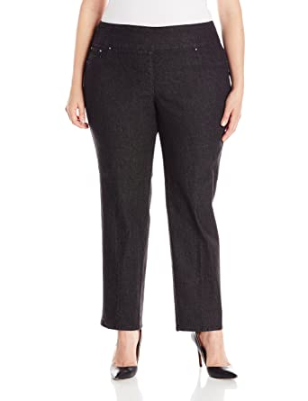 78c7c9566c2 Ruby Rd. Women s Plus Size Pull-on Extra Strech Denim Jean at Amazon ...