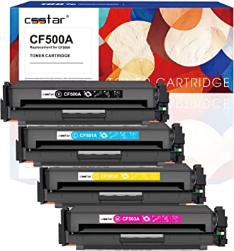 10 Pack CF500A Black, CF501A Cyan, CF502A Magenta, CF503A Yellow Smart Print Supplies Compatible 202A Toner Cartridge Replacement for HP Color Laserjet Pro MFP M280nw M254dw M281fdw Printers