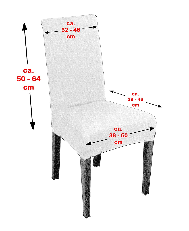 elastische Husse Bi-Elastic Beautex Antonella 2er Set universal Stretch Stuhlhusse Farbe w/ählbar Beige