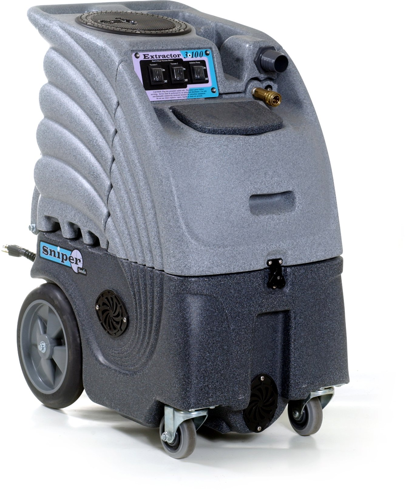 Sandia 86-2100 Dual 2 Stage Vacuum Motor Sniper Commercial Extractor, 6 Gallon Capacity, 100 psi Pump
