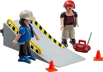 PLAYMOBIL 4415 2 patín con la rampa: Amazon.es: Juguetes y juegos