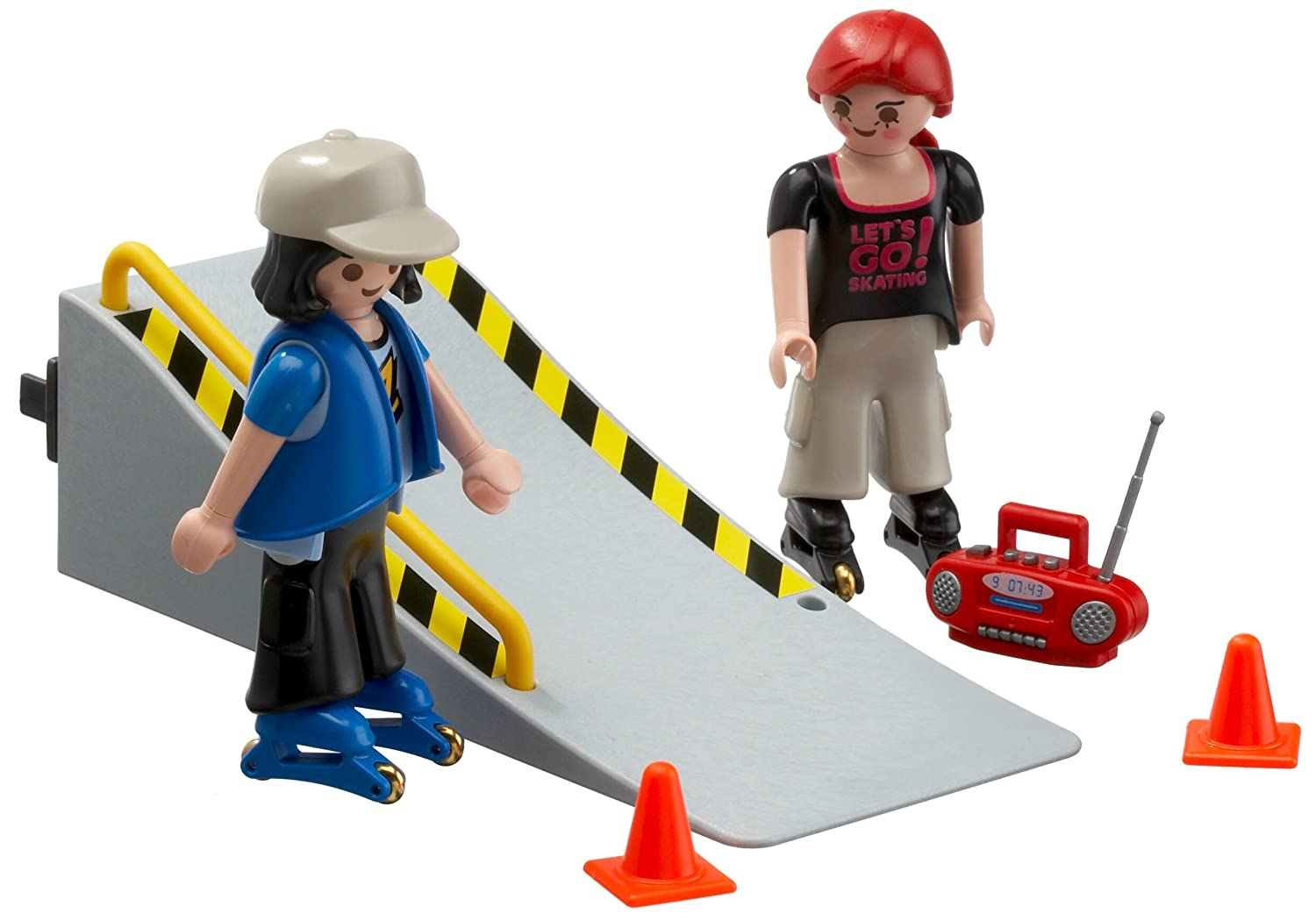 Playmobil 4415: Skaters with Ramp [Toy]: Amazon.co.uk: Toys & Games