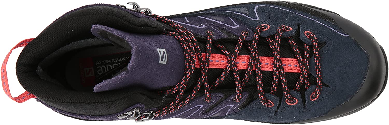 SALOMON X Alp Mid LTR GTX W, Chaussures de Randonnée Hautes Femme Noir Black Nightshade Grey Coral Punch 000