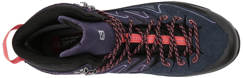 Salomon X Alp Mid LTR GTX Hiking Shoe - Women's B01HD2U804 5.5 B(M) US|Black, Nightshade Grey, Coral Punch