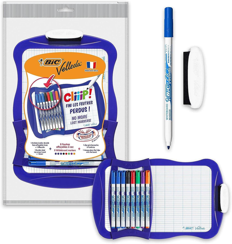 /Rotulador para pizarra / color blanco color azul Blister 2 BIC Velleda/ Pack de 2 /Padres