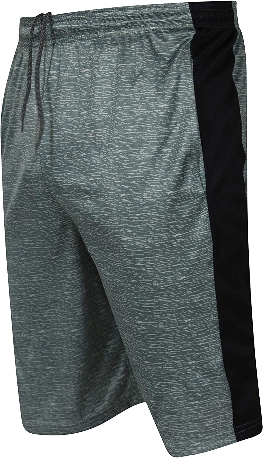 3 Pack:Men/'s Quick Dry Fit Active Athletic Basketball Tennis Essentials Gym Sport Workout Shorts-Set 5,XL