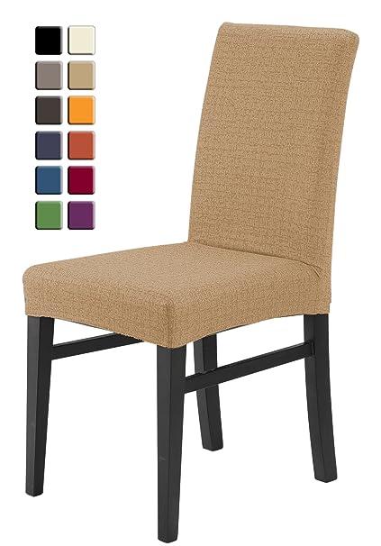 SCHEFFLER-HOME Natura Fundas de sillas 2 piezas, estirable Cubiertas ...