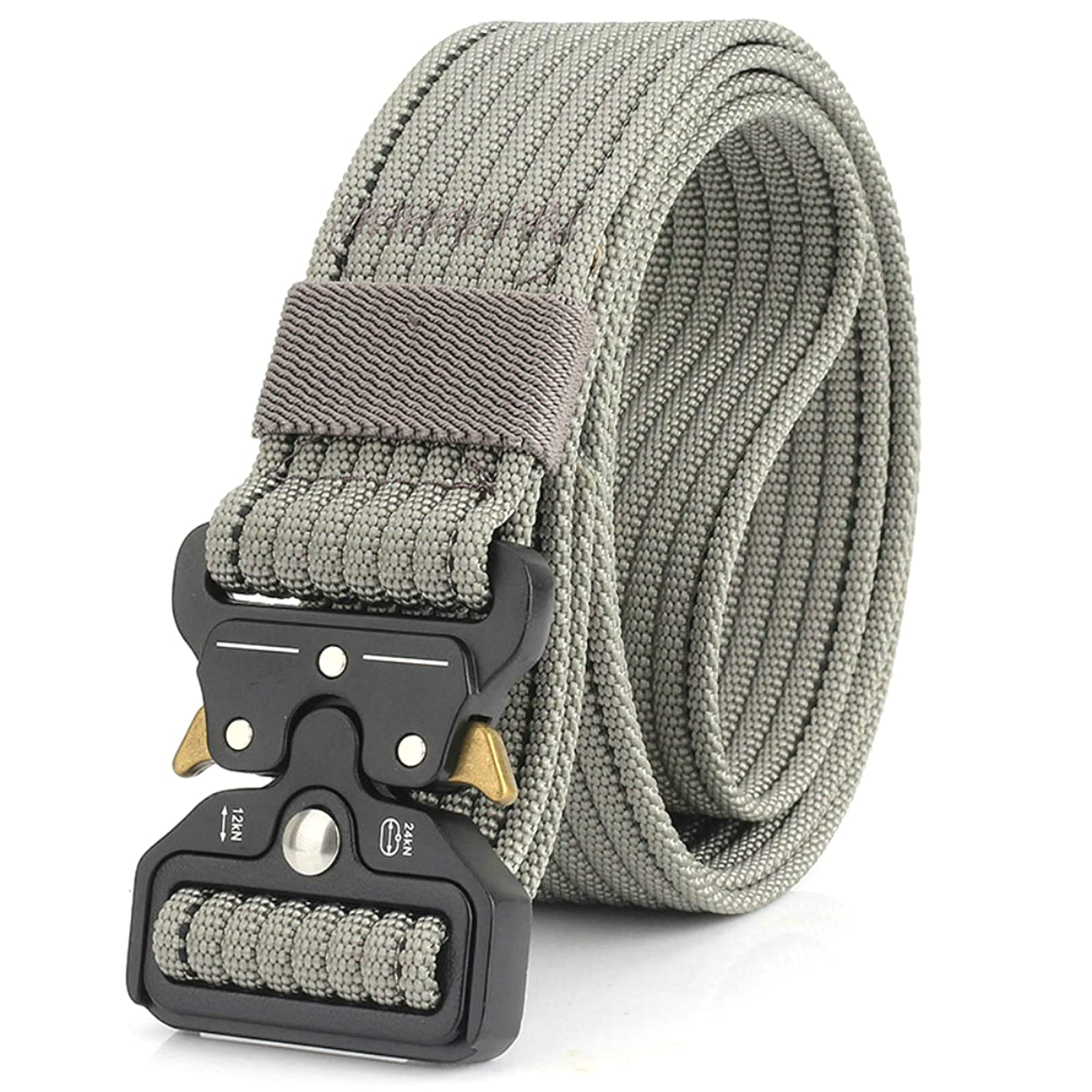 FIEKCOR Tactical Belt 1.75 Tactical Heavy Duty Waist Belt Quick-Release Military Style Shooters Nylon Belts with Metal Buckle