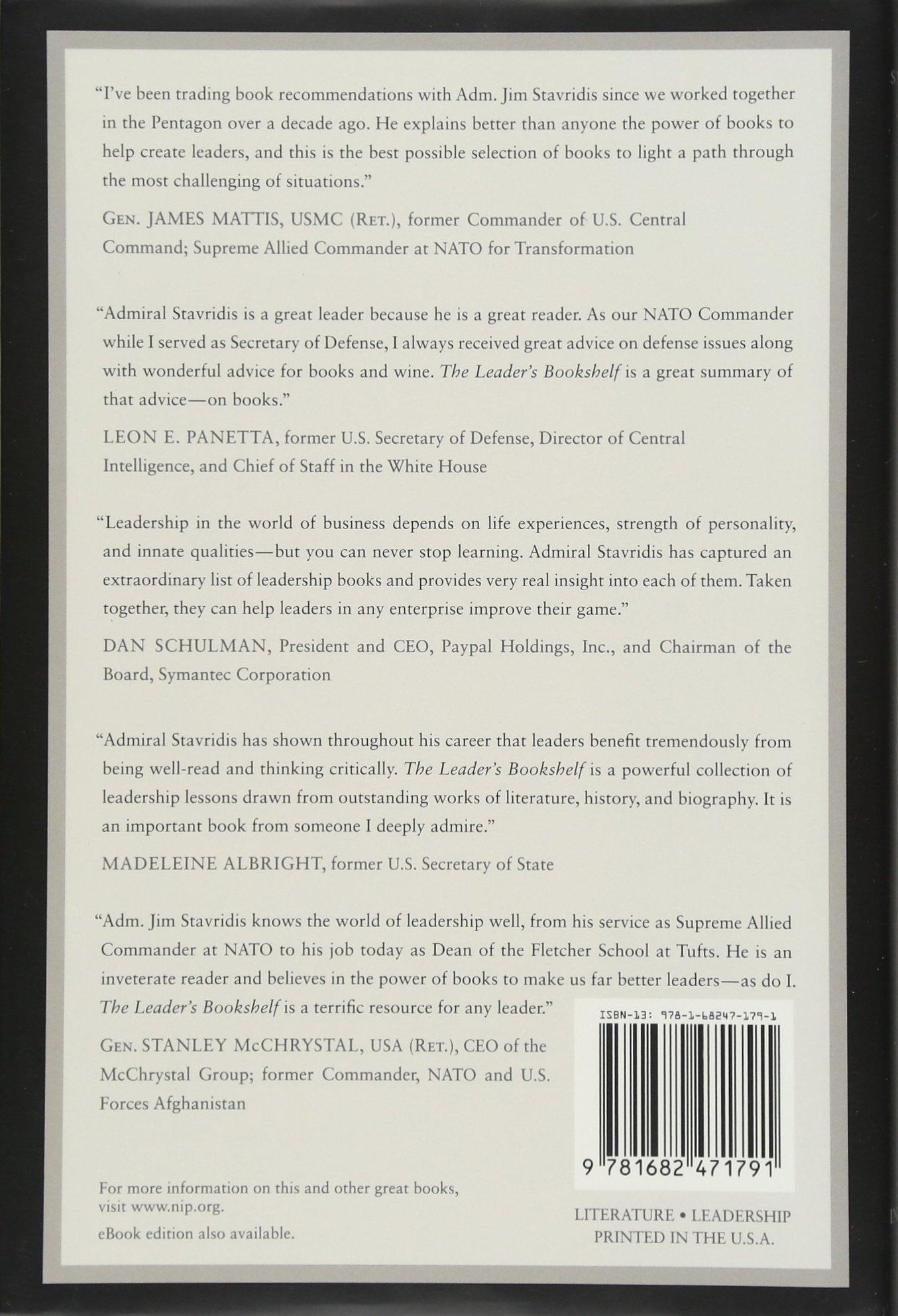 The Leaders Bookshelf Amazoncouk James Stavridis RManning Ancell 4708364246084 Books