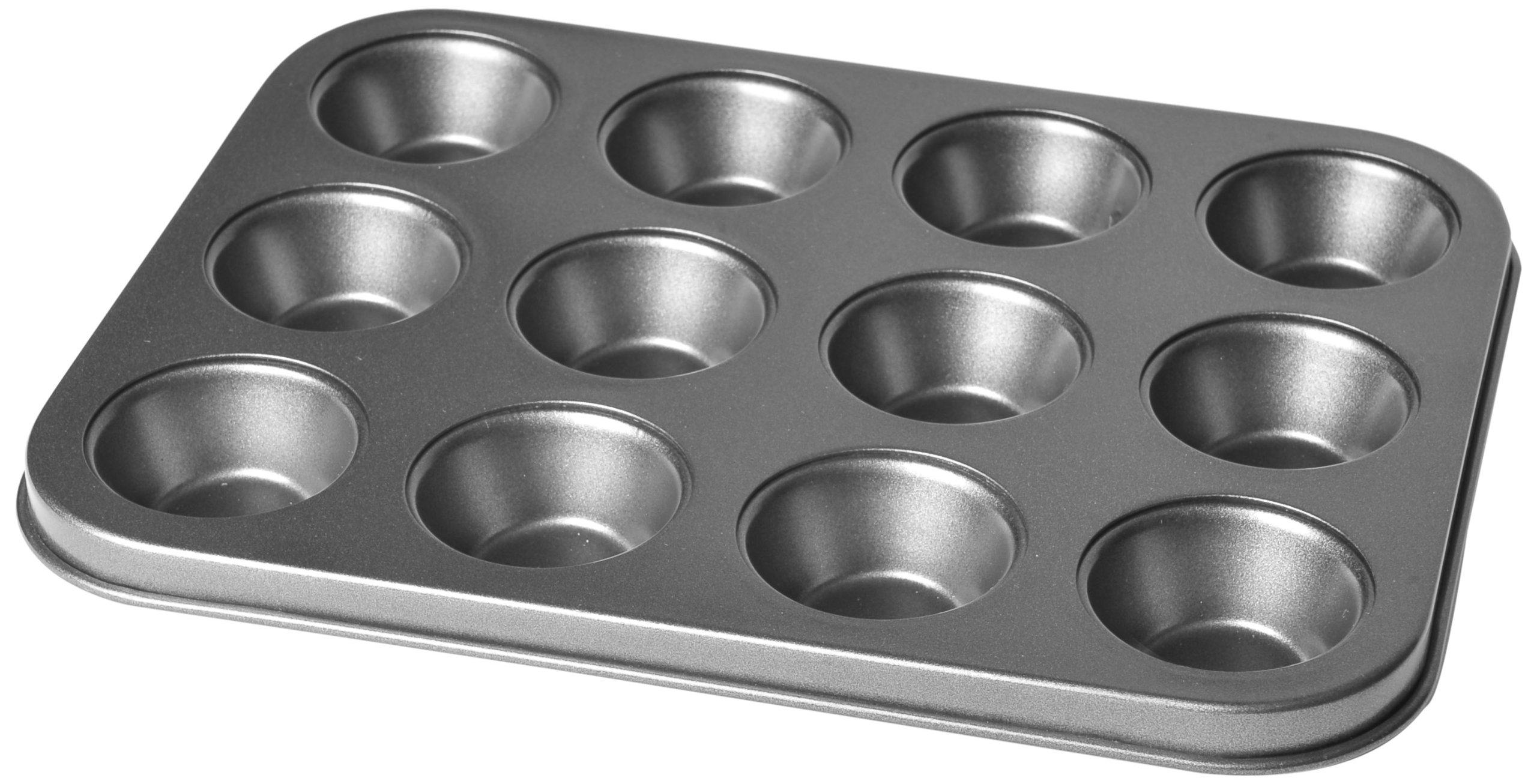 Chloe's Kitchen 201-103 Muffin Mini 12-Cavity Pan, Non-Stick