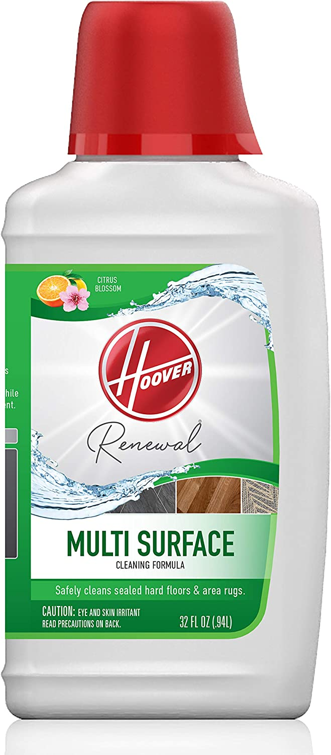 Hoover Renewal Multi Surface Floor Cleaner, Concentrated Cleaning Solution for FloorMate Machines, 32oz Formula, AH30428, White