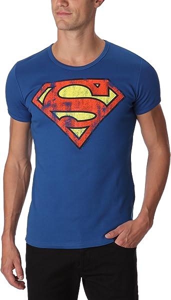 Logoshirt DC Comics - Superman - Logo - Camiseta - Slim-Fit - Azul - Diseño Original con Licencia: Amazon.es: Ropa y accesorios