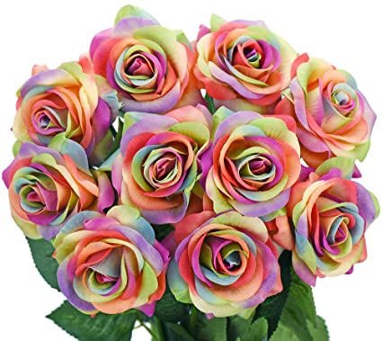 Fiveseasonstuff 10 Stems Of Real Touch Silk Petals Feel And Look
