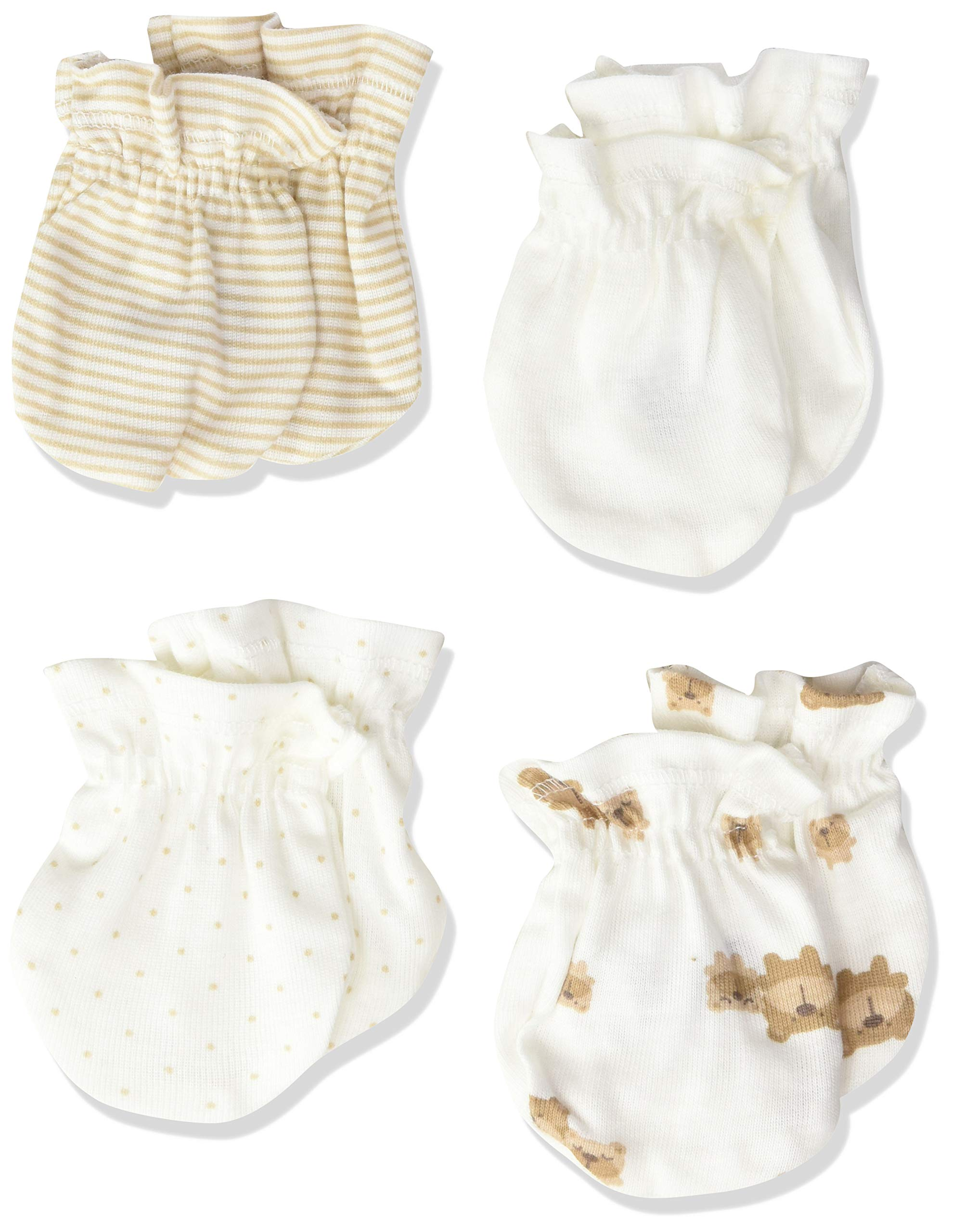 Gerber Baby Girls 4-Pair Mittens