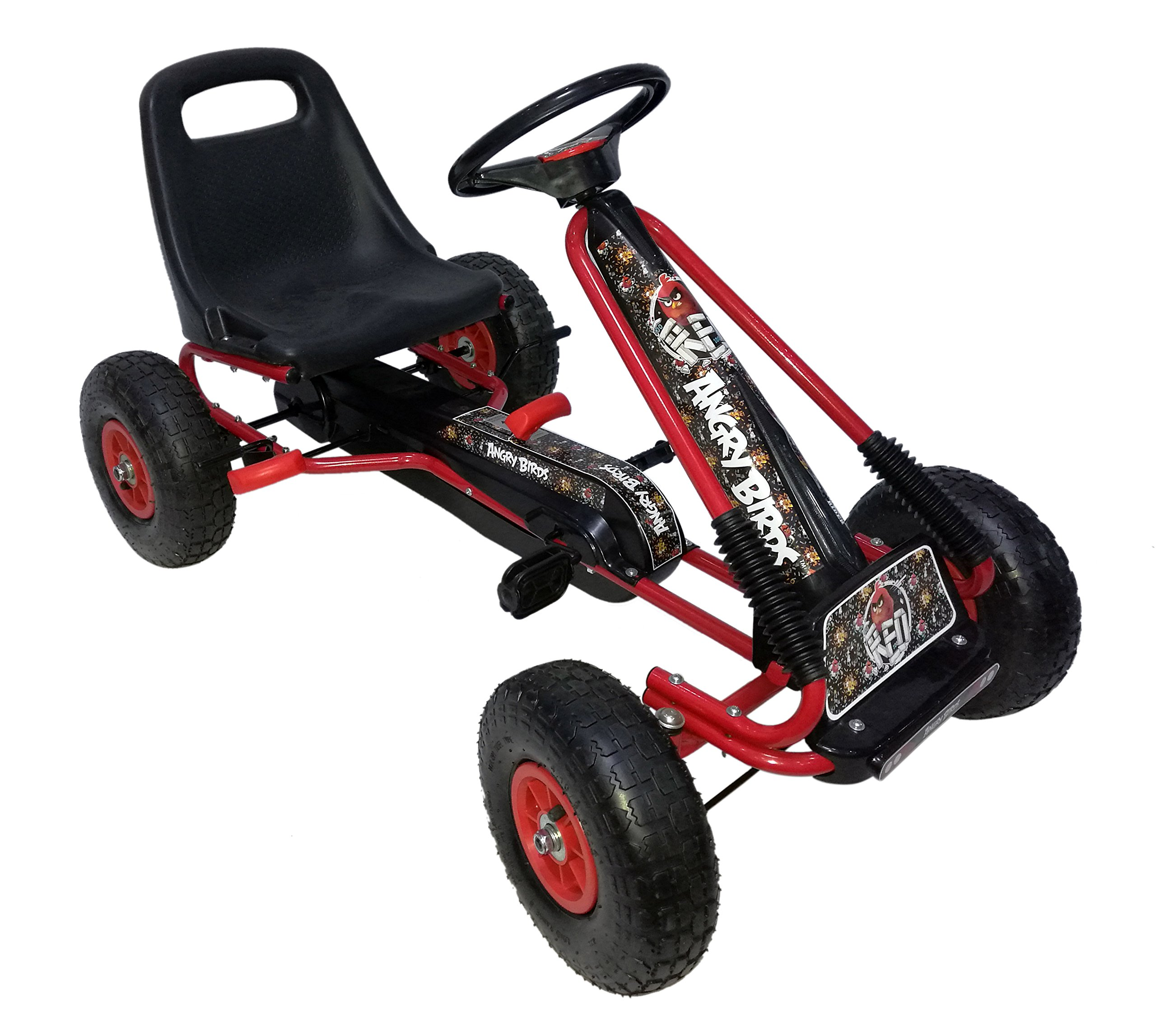 Angry Birds ''Red'' Racing Pedal Go-Kart w/ Pneumatic Tire - Black by Vroom Rider