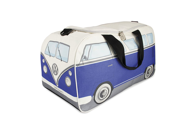 VW Collection by BRISA VW T1 Bus Pequeñ o Bolso de Deporte - Azul/Beige
