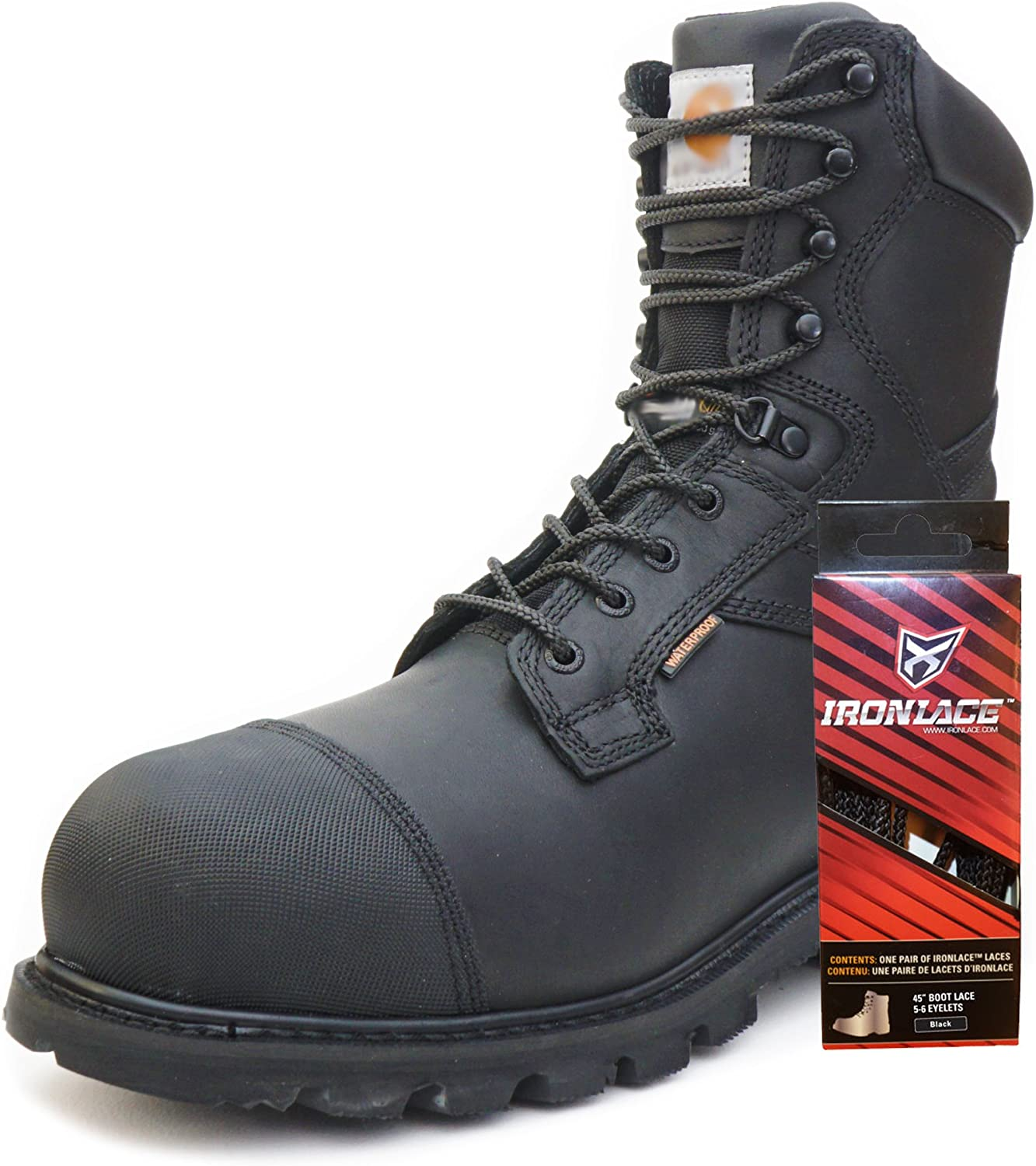 Red Brown w Black Round 63 Inch 7-8 Eyelet Hiking//Work Boot High Top Laces