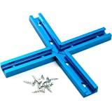 POWERTEC 71209 T-Track Intersection Kit with Wood Screws