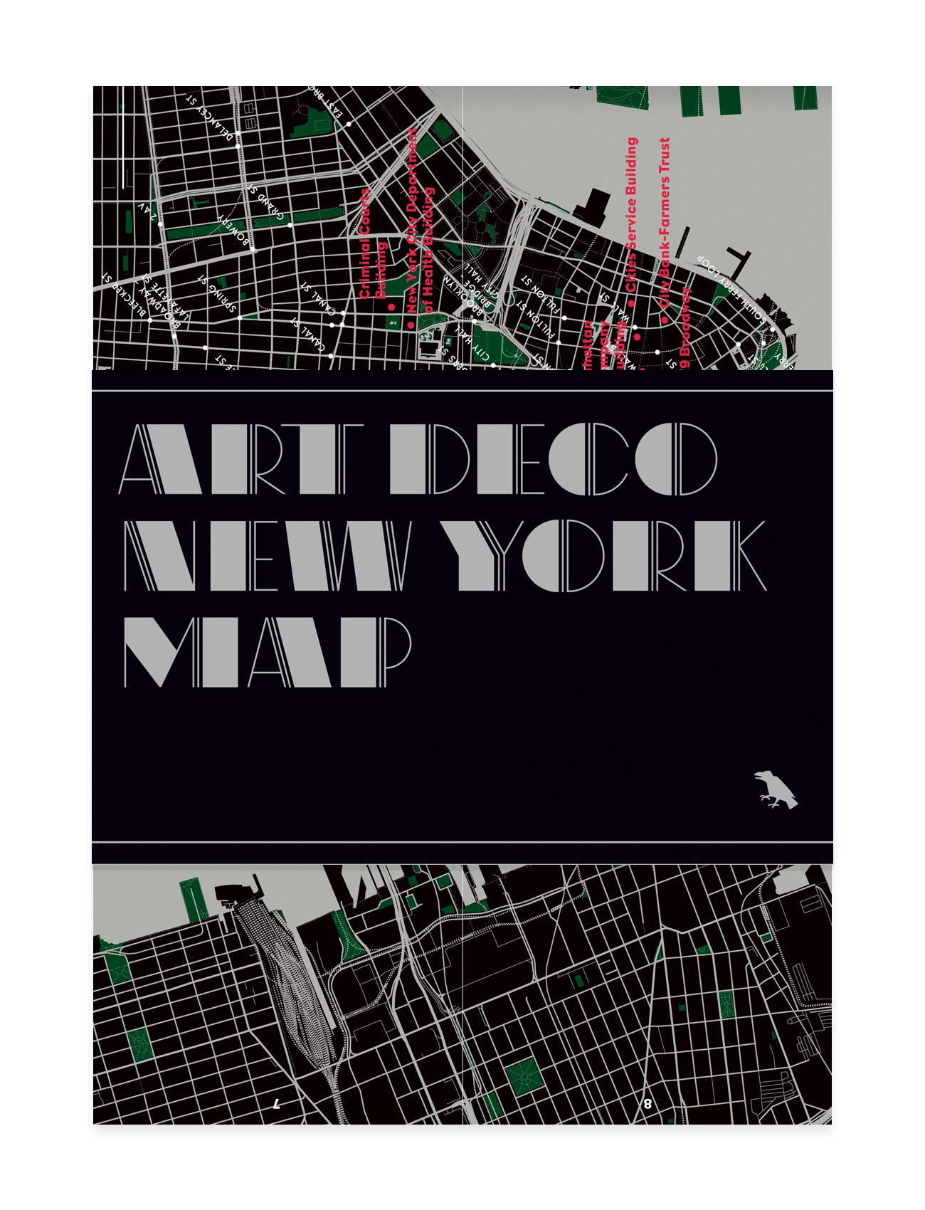 Art Deco New York Map  Guide To Art Deco Architecture In New York City