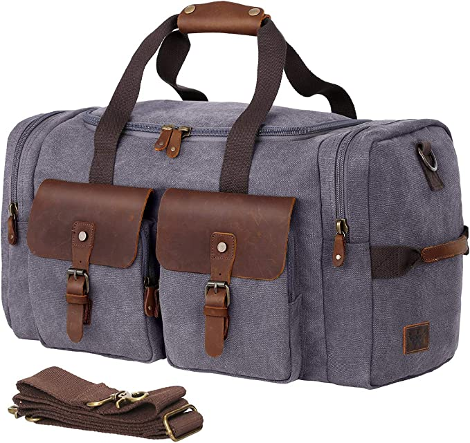 FAJRO Gym Bag Travel Duffel Express Weekender Bag Halloween Cupcake Carry On Luggage with Shoe Pouch