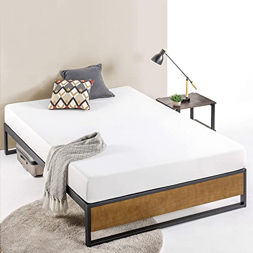 ZINUS GOOD DESIGN Award Winner Suzanne 14 Inch Metal and Wood Platforma Bed Frame / No Box Spring Needed / Wood Slat Suport